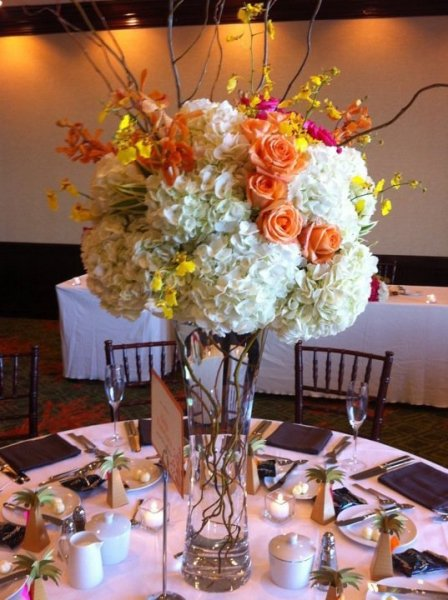 Centerpieces for 8-9-10 wedding @ Sheraton Waikiki.